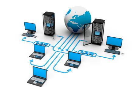 コンピュータ ネットワーク 写真素材