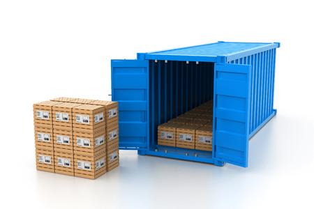 removal van: Cargo transportation concept Stock Photo