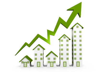 sales graph: Growing home sales