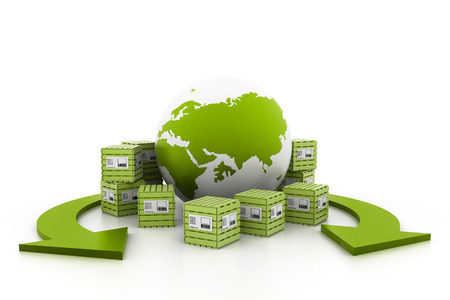 World wide cargo transportation photo