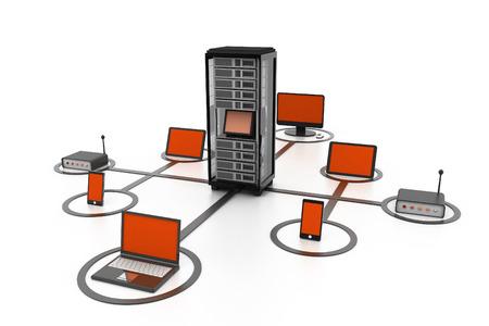 Computer-Netzwerk Standard-Bild - 33563753