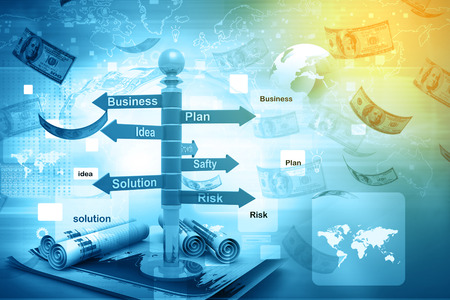 flow diagram: business planning flow chart Stock Photo