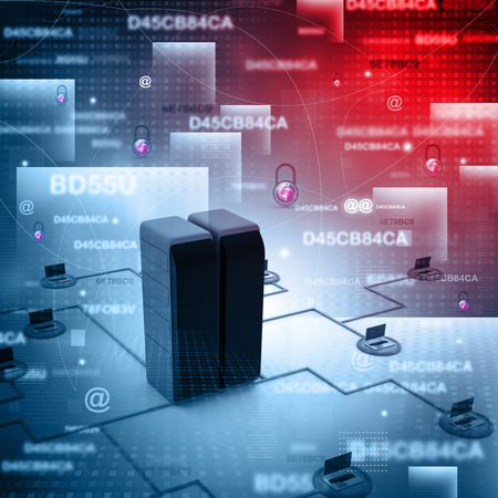 wireless data: Digital illustration of  computer network