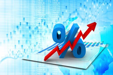 Prozent Growing Standard-Bild