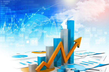 economical: Economical chart and graph Stock Photo