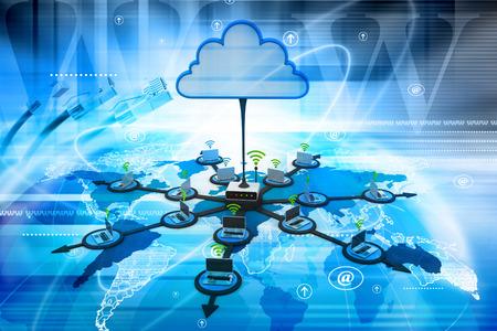 Il cloud computing Archivio Fotografico - 36609882