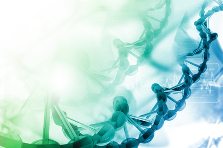biotech: Digital illustration of dna Stock Photo