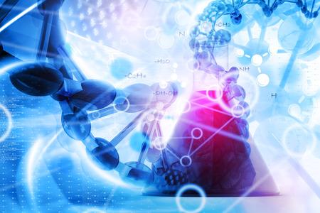 drug test: Laboratory DNA background Stock Photo