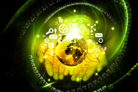 wireless technology: Modern wireless technology and internet concept Stock Photo