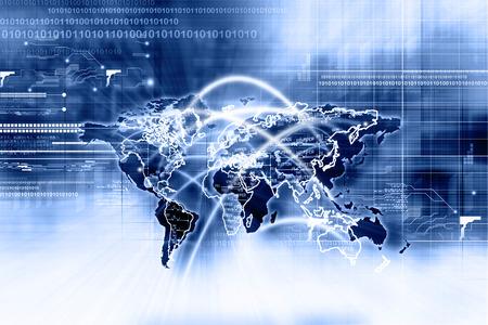 alrededor del mundo: Conexi�n de red global