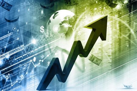 economical: Economical Stock market graph Stock Photo