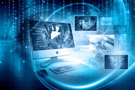tecnología informatica: Fondo de la tecnología digital