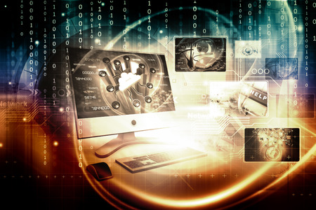 colour images: Digital technology background