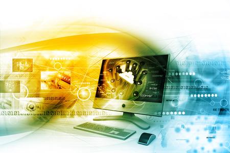 international internet: Digital internet technology Stock Photo