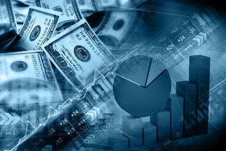 Contexte financier Banque d'images