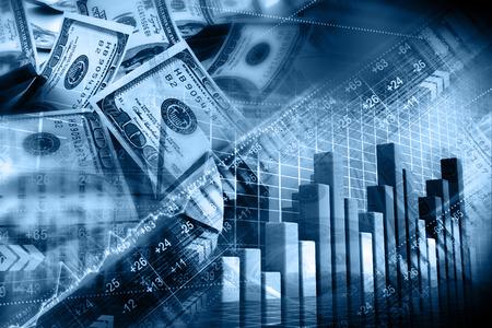 Financiële achtergrond Stockfoto