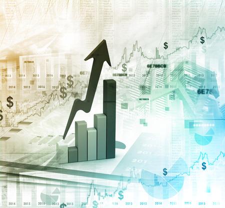 economical: Business graph Stock Photo