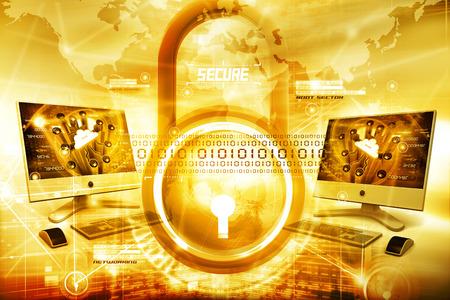 De seguridad de Internet  Foto de archivo - 37463111