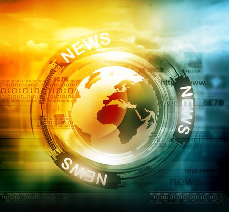 Digital background notizie