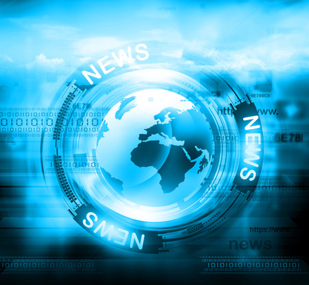 Digital news background Stock Photo