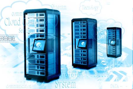 data base: Digital illustration of network server