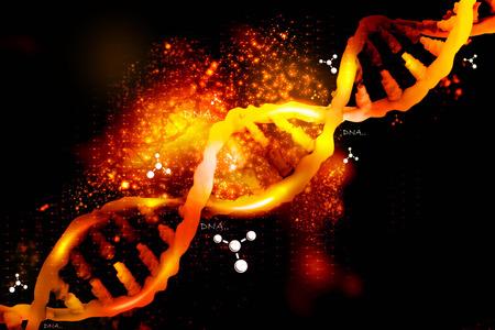 gene: Digital illustration of DNA structure