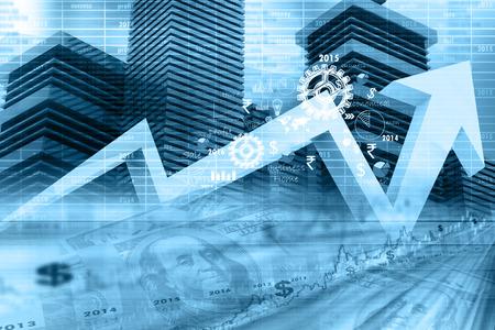 Économique graphe boursier Banque d'images
