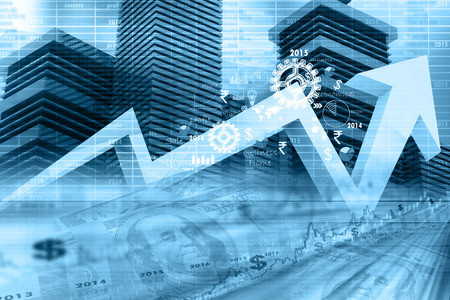 Economico grafico del mercato azionario Archivio Fotografico - 38719019