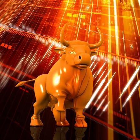 bearish business: Economical Stock market graph Stock Photo