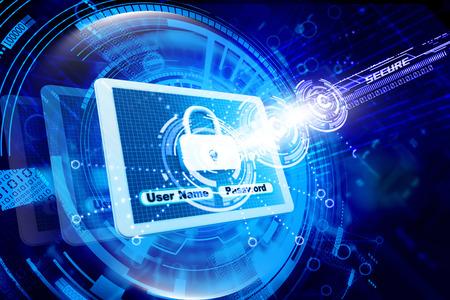 proteccion: De seguridad de Internet  Foto de archivo