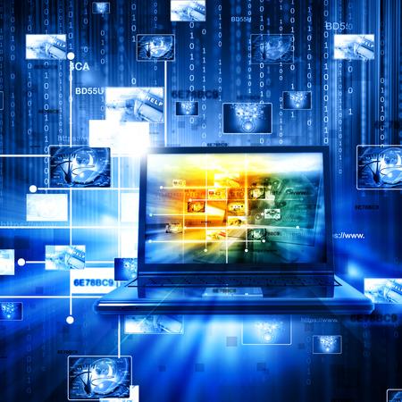 Data management technologie Stockfoto