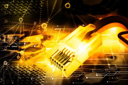 cable red: Ilustración digital de cable de red