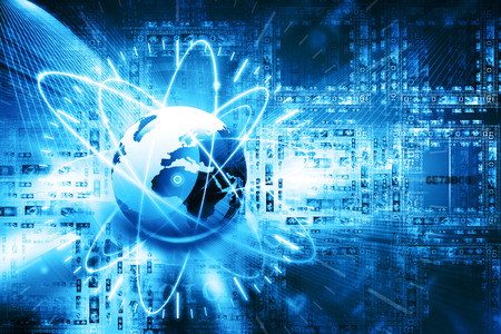 Global network connection Archivio Fotografico