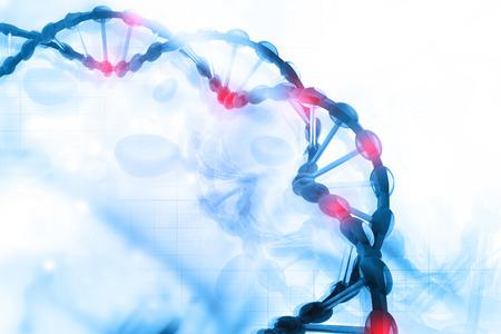 gene on a chromosome: Digital illustration of DNA Stock Photo