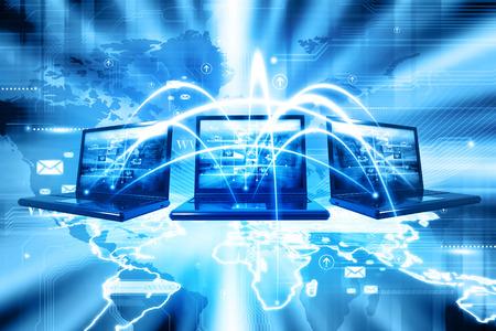 réseautage: Réseau informatique Banque d'images