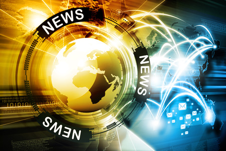 Digital news background Imagens