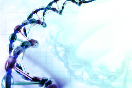 stem cell: Digital illustration of DNA Stock Photo
