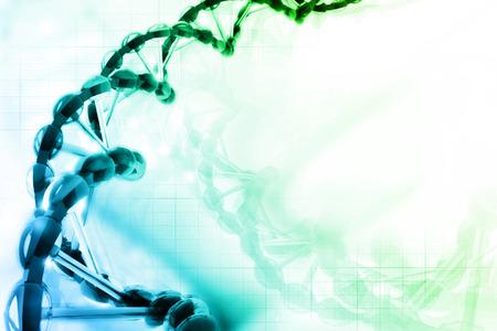 Digital illustration of DNA Banque d'images