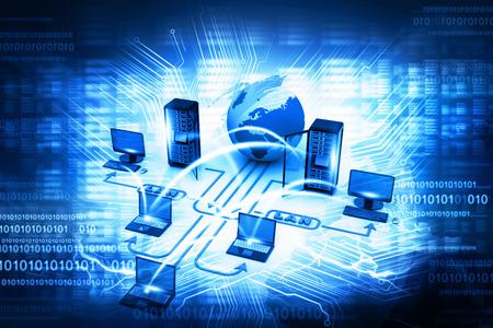 Computernetwerk Stockfoto