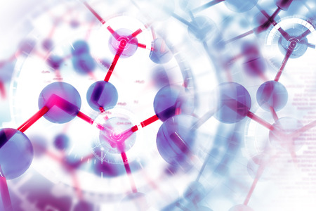 medicine background: Molecule background Stock Photo