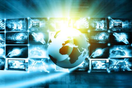 Data management technology Stock Photo
