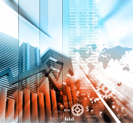 increases: Economical stock market graph