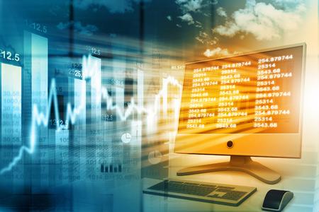 Conomique graphe boursier Banque d'images - 42063213
