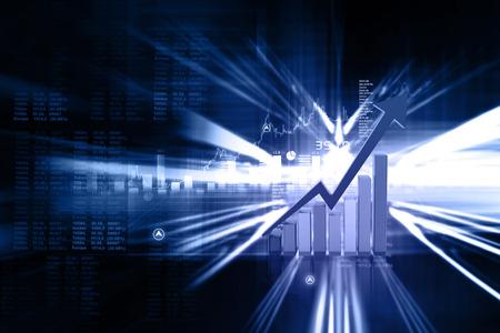 stock listing: Digital illustration of Business graph Stock Photo