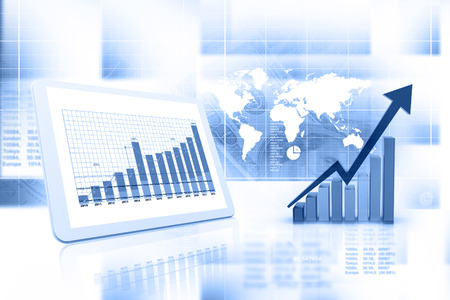 Business grafiek en grafiek Stockfoto - 42063225