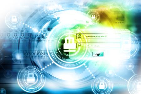 privacidad: De seguridad de Internet  Foto de archivo