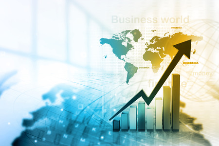 prosperidad: Econ�mica gr�fico de la bolsa