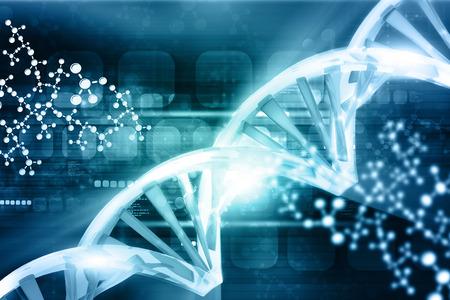 Digital illustration of DNA Archivio Fotografico