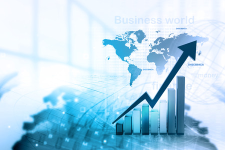obchod: Ekonomický graf akciového trhu