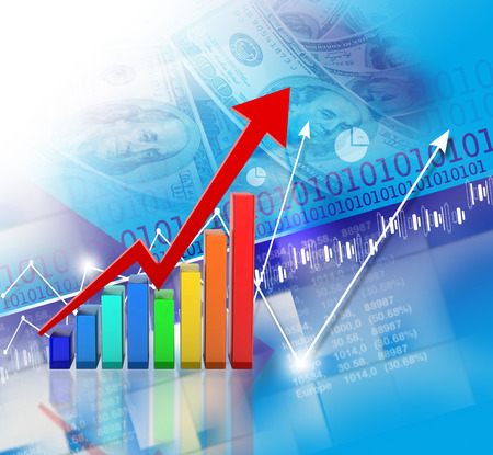 financial concept: Financial growth concept